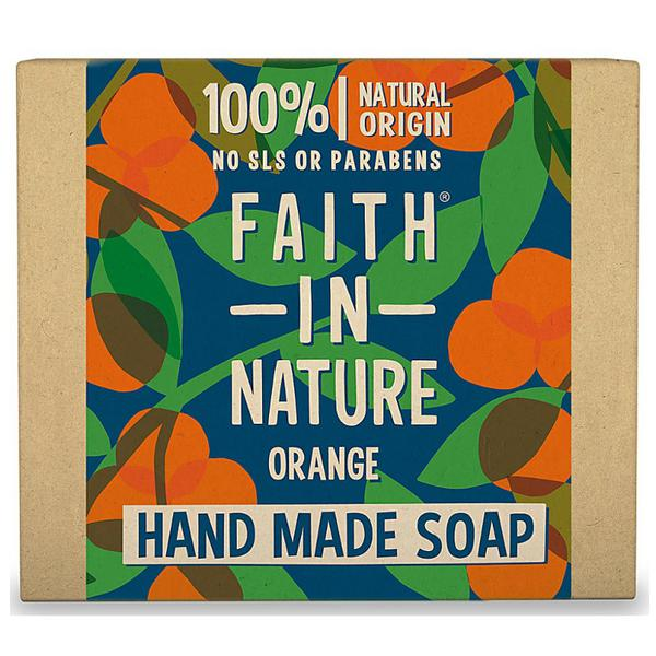 Faith in Nature Orange Soap with plastic-free packaging