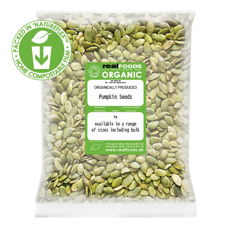 Organic pumpkin seeds from Real Foods