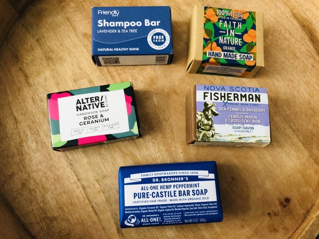 A selection of soaps available from www.realplasticfree.com